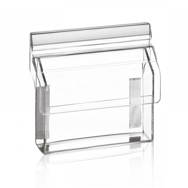 Indisplay Visitenkartenbox VBO95, 1 Visitenkartenfach Outdoor Acrylglas, Querformat