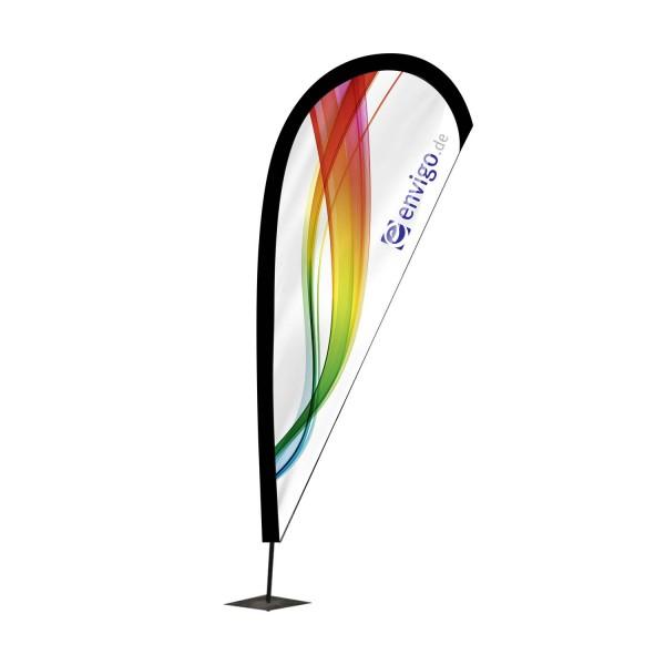 """Beachflag """"Drop"""", Größe M (90 x 280 cm) inkl. Carbonstange und Druck"""