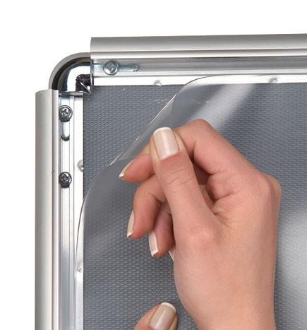 Transparente PET-Folie für Kundenstopper DIN A2 bis DIN A0