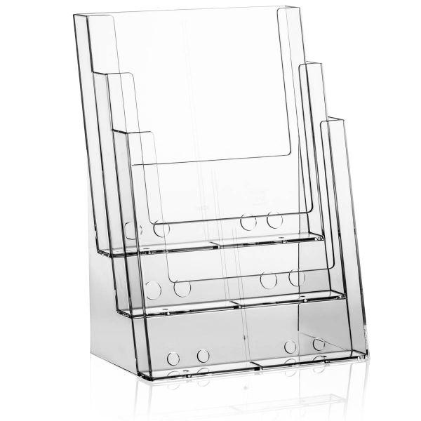 Taymar Tisch-Prospekthalter 3C230, 3 Fächer DIN A4
