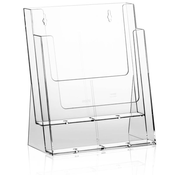 Taymar Tisch-Prospekthalter 2C230X, 2 Fächer DIN A4