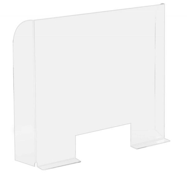 Hygiene-Trennwand 68 x 60 cm mit Durchreicheöffnung