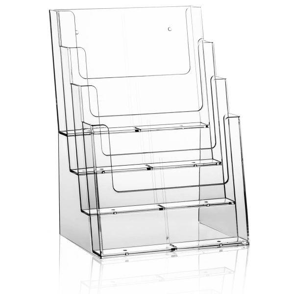 Taymar Tisch-Prospekthalter 4C230, 4 Fächer DIN A4 oder 8 Fächer DIN lang, ohne Fachtrenner