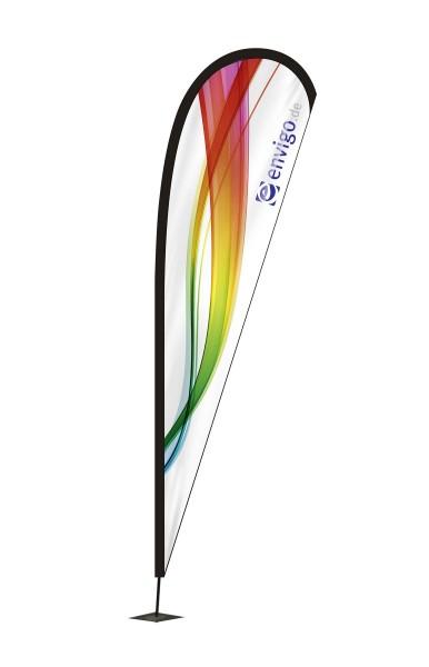 """Beachflag """"Drop"""", Größe XL (120 x 460 cm) inkl. Carbonstange und Druck"""