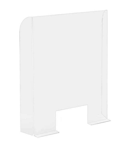Hygiene-Trennwand 68 x 95 cm mit Durchreicheöffnung