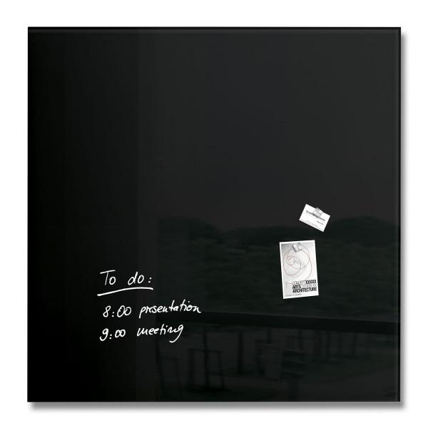 Sigel Glas-Magnetboard artverum schwarz, 100 x 100 cm, GL200