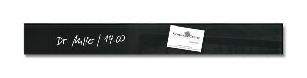 Sigel Glas-Magnetboard artverum schwarz, 6,5 x 55 cm, GL137