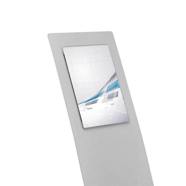 """Informationsdisplay """"CurvePlus"""", Metall, alu-silber mit Acrylglas-Sichttasche"""