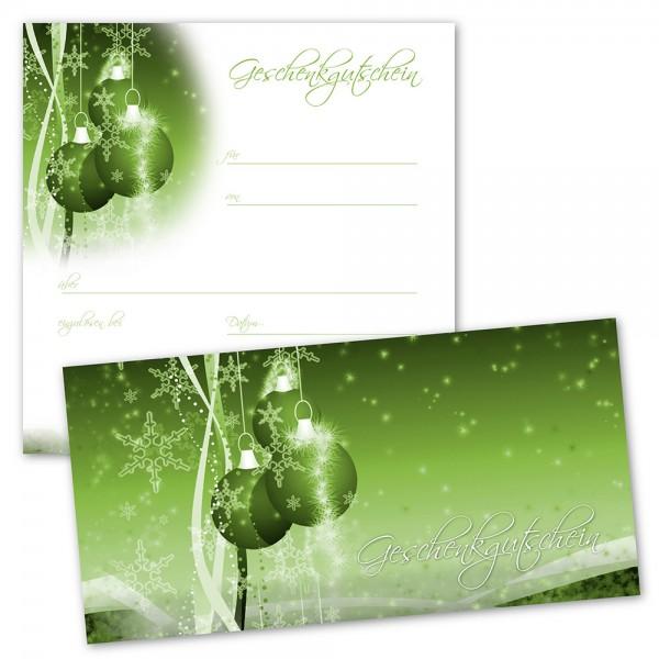 Weihnachts-Geschenkgutscheine