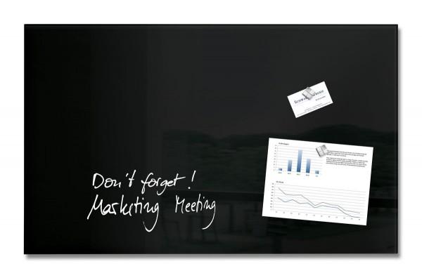 Sigel Glas-Magnetboard artverum schwarz, 78 x 48 cm, GL130