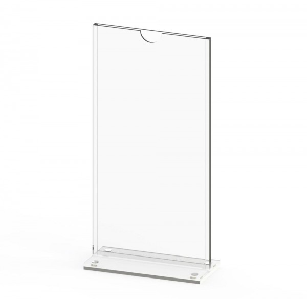 Tischaufsteller T-MAG-DL aus Acrylglas für DIN lang