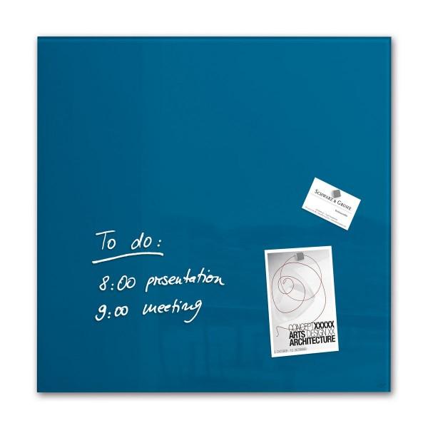 Sigel Glas-Magnetboard artverum petrolblau, 48 x 48 cm, GL252