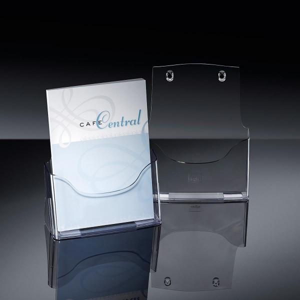Sigel® Tisch-Prospekthalter acrylic mit1Fach DINA4, LH110