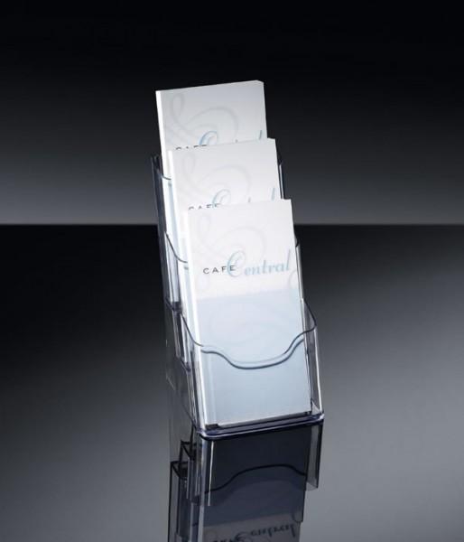 Sigel® Tisch-Prospekthalter acrylic mit3Fächern DINlang, LH333