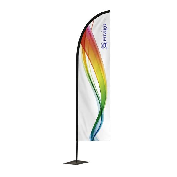 """Beachflag """"Blade"""", Größe S (55 x 260 cm) inkl. Carbonstange und Druck"""