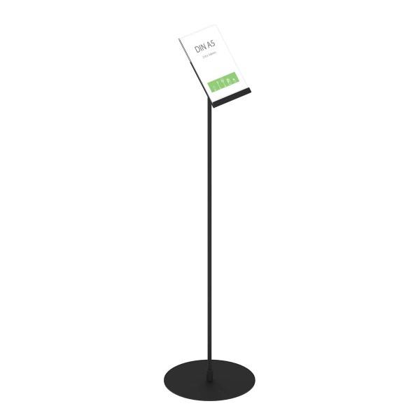 Infoständer »Instand« DIN A5 hoch, schräg/einseitig, schwarz