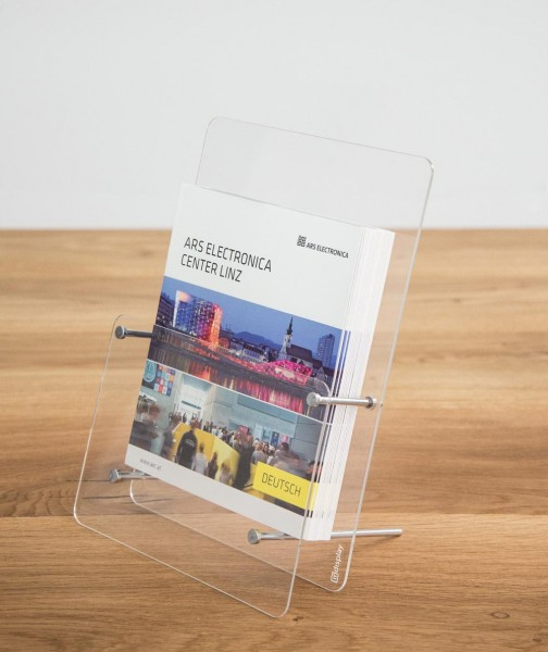 Tisch-Prospekthalter Tokio DIN A5 Glasklares Acrylglas