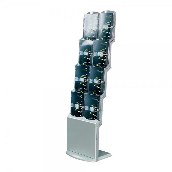 Faltbarer Prospektständer »realbig silver« mit 8 Fächern DIN A4