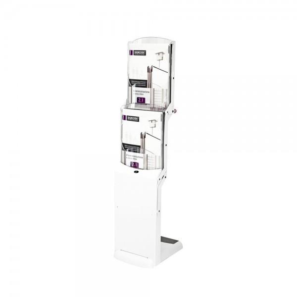 Faltbarer Prospektständer »realzip bianco 2« mit Fächern für DIN A4