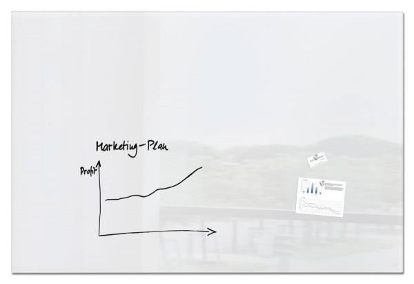 Sigel Glas-Magnetboard artverum super-weiß, 180 x 120 cm, GL230