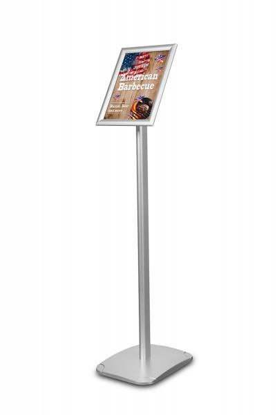 Infoständer »Menü Board Standard«, DIN A4 Hochformat, Aluminium silberfarben