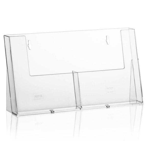 Taymar Tisch-Prospekthalter 2C155H, 2 Fächer DIN A5
