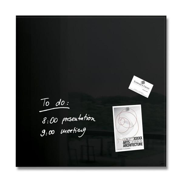 Sigel Glas-Magnetboard artverum schwarz, 48 x 48 cm, GL110