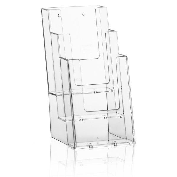 Taymar Tisch-Prospekthalter 3C104, 3 Fächer DIN lang Hochformat
