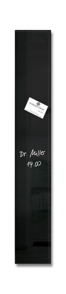 Sigel Glas-Magnetboard artverum schwarz, 12 x 78 cm, GL100