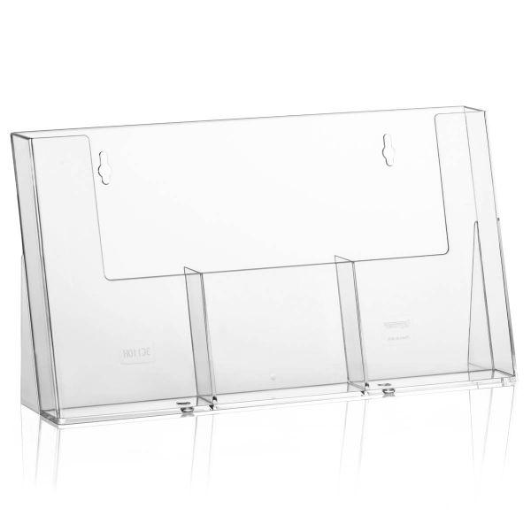 Taymar Tisch-Prospekthalter 3C110H, 3 Fächer DIN lang
