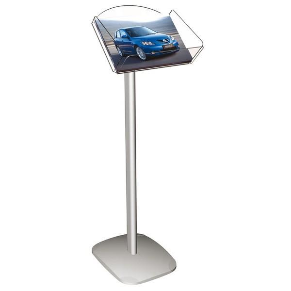 Franken-Prospektständer Aluminium/Acrylglas, A4 quer
