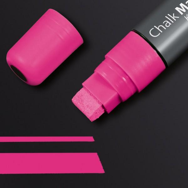 Sigel Kreidemarker 150 Keilspitze 5-15 mm, pink für Glas-Magnetboards, GL172
