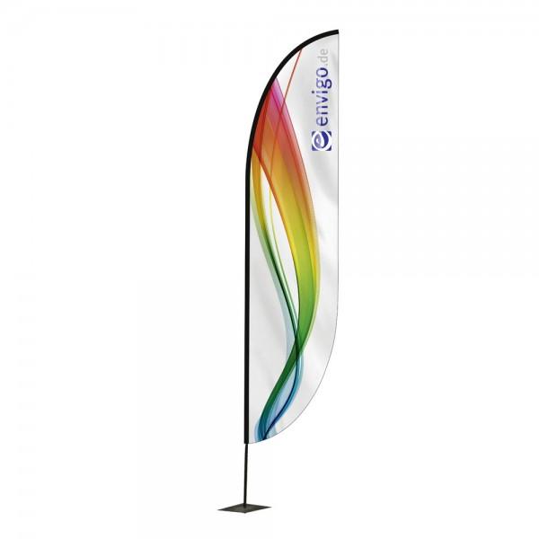 """Beachflag """"Wing"""", Größe L (80 x 400 cm) inkl. Carbonstange und Druck"""