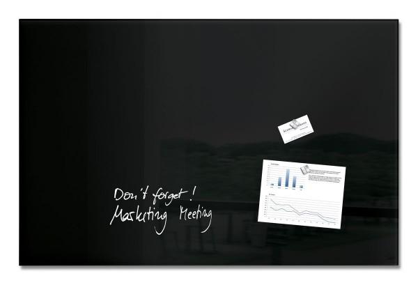 Sigel Glas-Magnetboard artverum schwarz, 100 x 65 cm, GL140
