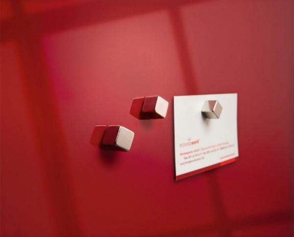 Sigel Super-Dym-Magnete, Cube-Design, extra-stark, 4 Stück, GL190