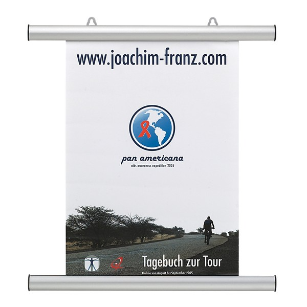 FRANKEN Aluminium-Klemmschienen für Poster/Plakate DIN A0 hoch, BS1005