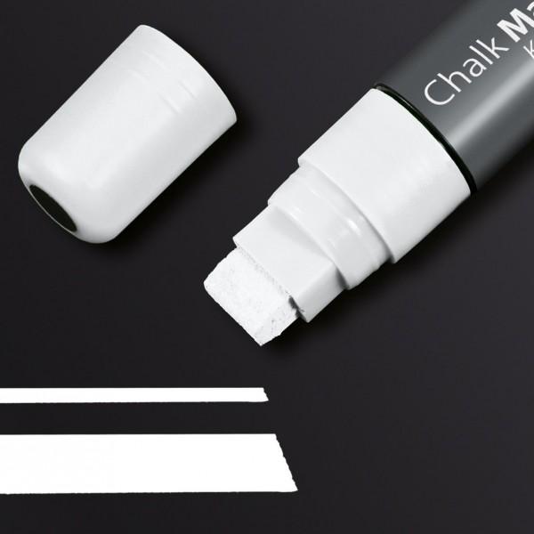 Sigel Kreidemarker 150 Keilspitze 5-15 mm, weiß für Glas-Magnetboards, GL171