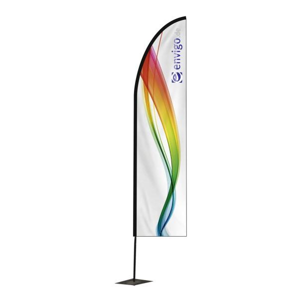 """Beachflag """"Blade"""", Größe M (60 x 320 cm) inkl. Carbonstange und Druck"""
