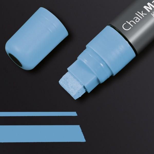 Sigel Kreidemarker 150 Keilspitze 5-15 mm, blau für Glas-Magnetboards, GL175