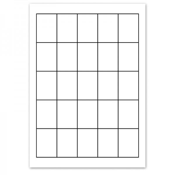 Perforationsbogen/Einsteckkarten für Info- und Preisaufsteller DIN A9