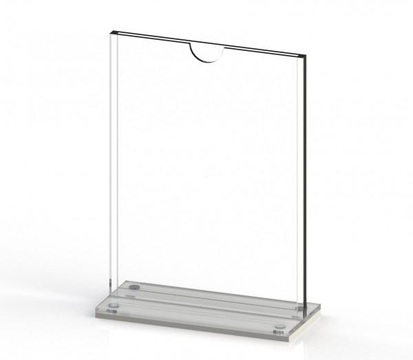 Tischaufsteller T-MAG-A6 aus Acrylglas für DIN A6