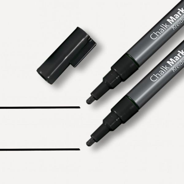 Sigel Kreidemarker 20 Rundspitze 1-2 mm, schwarz, für Magnetboards, GL177
