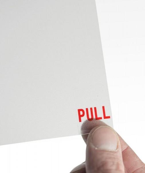 Transparente Ersatz-Schutzfolie für Kundenstopper Windpro/Swingpro