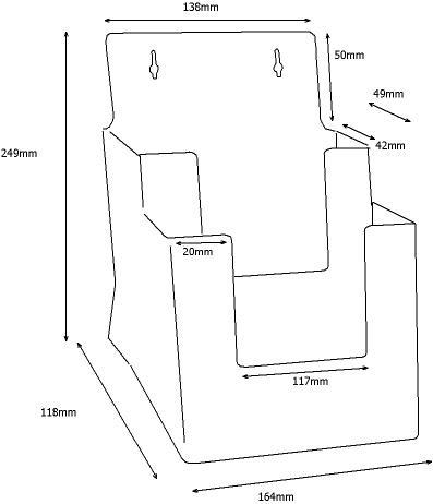 Taymar® Tisch Prospekthalter 2C160, 2 Fächer DIN A5