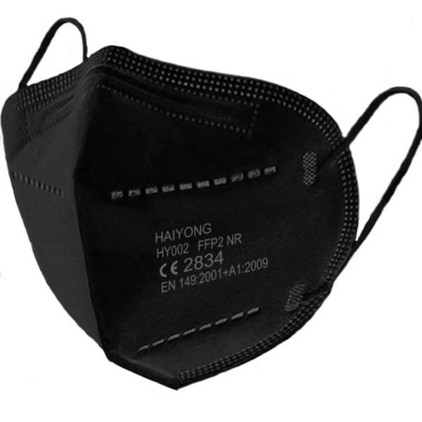 HAIYONG FFP2-Schutzmaske, schwarz