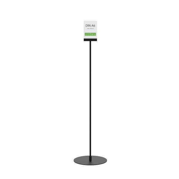 Infoständer »Instand« DIN A6 hoch, gerade, schwarz