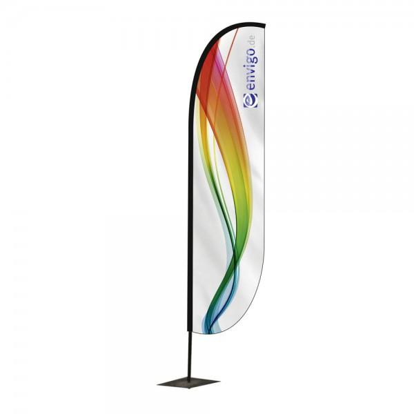 """Beachflag """"Wing"""", Größe S (80 x 210 cm) inkl. Carbonstange und Druck"""