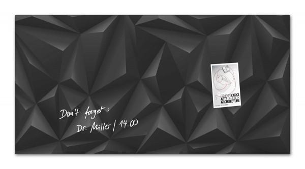 Sigel Glas-Magnetboard artverum Black-Diamond, 91 x 46 cm, GL261