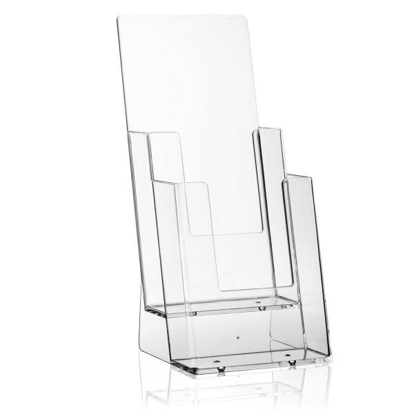 Taymar Tisch-Prospekthalter 2C110, 2 Fächer DIN lang