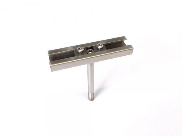Q-Adapterschiene für Prospekthalter schmal, 100 mm